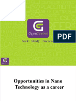 Opportunities in Nano Technology as a Career