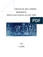 THE AESTHETICS OF ANTI-POETRY MANIFESTO