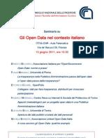 Programma Gli Open Data Nel Contesto Italiano 13 Giugno 2011