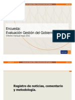 Encuesta Adimark Mayo 2011