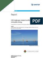 Final Report HSE Challenges Offshore Renewable Energy
