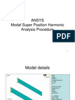 Modal Super Position Harmonic Analysis Procedure