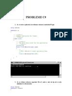 PROBLEME C#