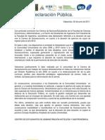 Declaración Pública de FACEA por Socioeconomia (02.06.2011)