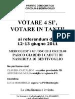 08.06.11 Votare 4 si, votare in tanti