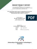 Internship Report on Jibon Bima Corporation, Bangladesh