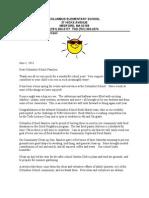 Columbus Principal June Letter