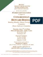 Breakfast and Conversation for Howard Berman