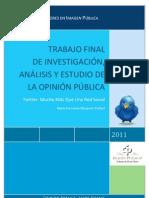 Trabajo Final de Investigación, Análisis y Estudio de la Opinión Pública. Twitter1