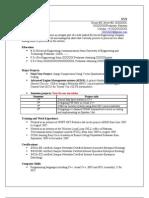 Sample CV Format
