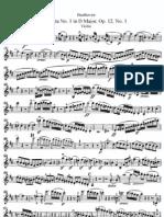 II -Sonata N°1 in D Major 'Violin''