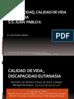 Calidad de Vida, Eutanasia , Correcciones  Metodologicas  Estudios de Carga de Enfermedad