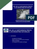 Rol de La Cartografia Frente Los Desastres Naturales