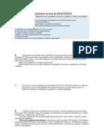 1ª avaliação online estatistica