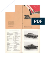 Fiat Spider Bs1 Owners Manual 1972