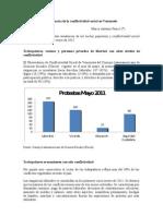 Tendencias de la Conflictividad Social en Venezuela Mayo 2011