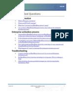 Job Aid - Enterprise Activation FAQ