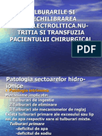 Dez. hidro electrolitice, Nutritia, Transfuzia