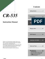 Manual CR-535 English