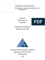 Determination of Inductance, Capacitance, And Resistance of the Transmission Line