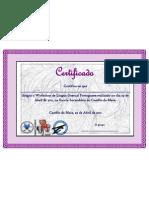 Certificado (Associação de Surdos do Porto)