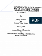 Volunteer Participation in State Agencies in Washington