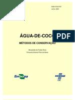 Métodos de conservação água de coco