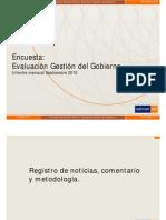 Adimark, Evaluación Gobierno 2010