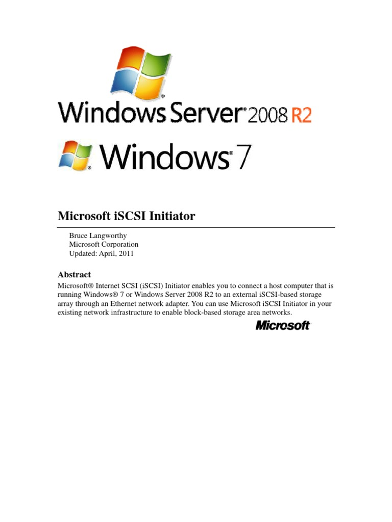 iSCSI Initiator User's Guide for Windows 7   Communications