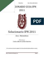 SOLUCIONARIO GUIA IPN 2011