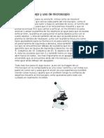 Manejo y Uso de Microscopio