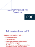 Commonly Asked HR Questions