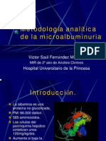 Metodologia Analitica de La Mibroalbuminuria