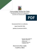 Documentación Para La Acreditación según norma ISO 17025 aplicada al laboratorio LEMCO (TESIS)