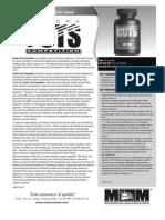 QUADRA CUTS COMPETITION Product Data Sheet