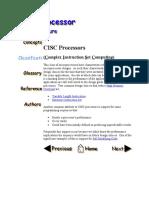 CISC Processors