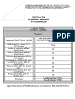 Analysis Certificate - Sanitary Alcohol (Interom)
