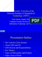 Cyber Security Activities at The