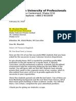 Letter Format-Full Block