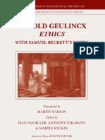 Geulincx, Ethics