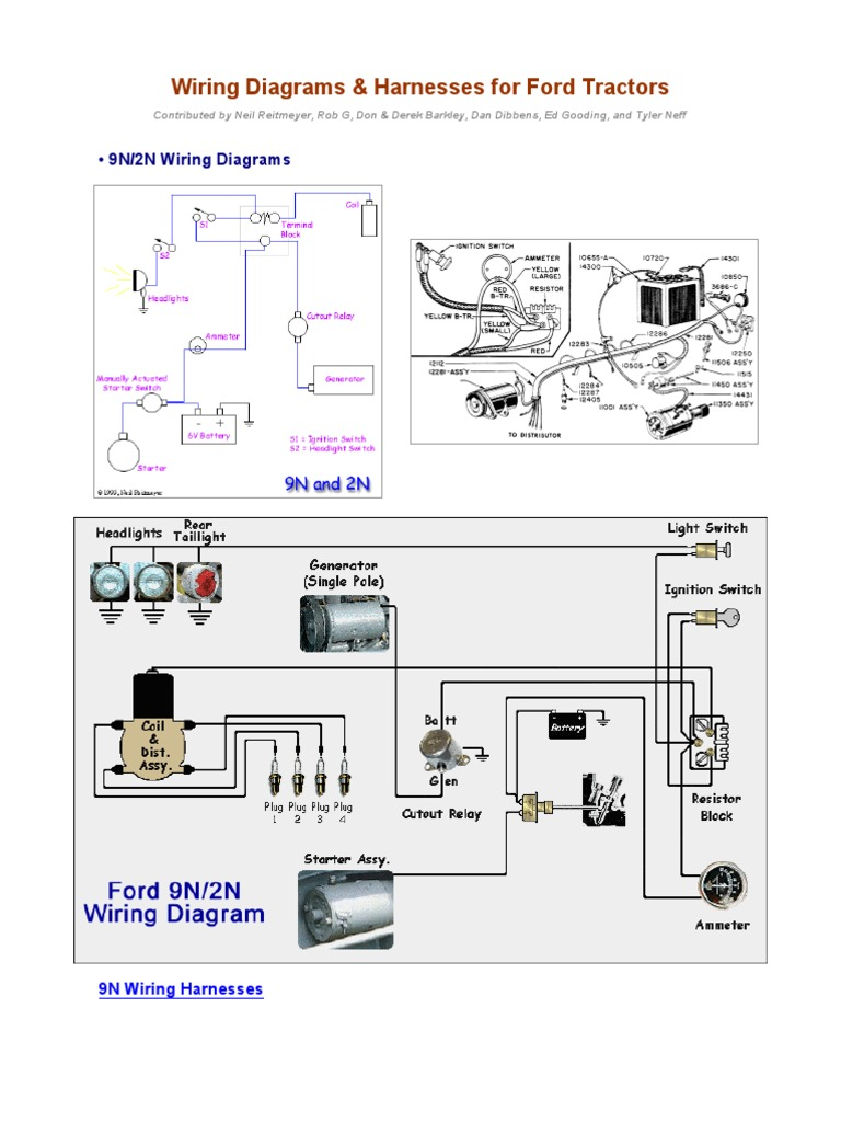 Wiring Diagrams For Ford Tractors2 Pdf Library 9n Electrical Diagram