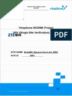 Site Verification Report NodeBIDxxxx