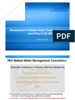 3.1 Development of Ballast Water Treatment System According to the IMO Convention