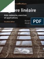 Algèbre linéaire- aide-mémoire- exercices et applications Par Robert C. Dalang-Amel Chaabouni