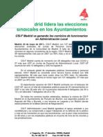 CSIF Madrid lidera las elecciones sindicales en los Ayuntamientos