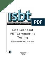 Line Lubricant Testing