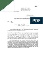 AOM No. 2010-004 -Non-Submission of PO Within the Prescribed Period