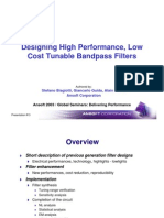 Design of Tunable Filters