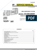 Sharp CD-bk300w Service Manual
