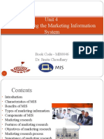 Unit 4 Understanding the Marketing Information System